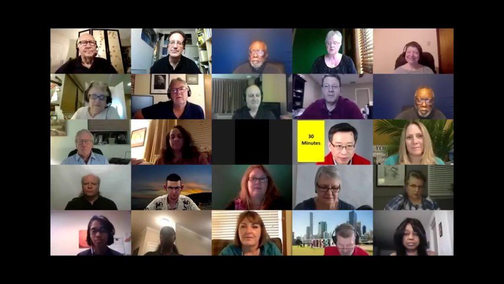 Online meeting screenshot