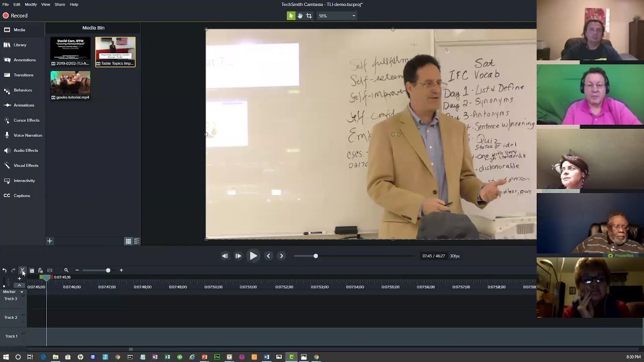 Video for Speakers and Presenters: Replay from a Workshop on Creating, Editing and Sharing Video